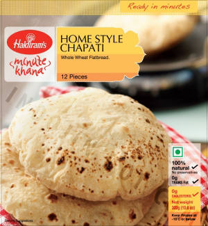 Haldiram's : Home Style Fulka Roti Frozen [ 12 Piece ] 360 gm Delivery only with frozen parcel