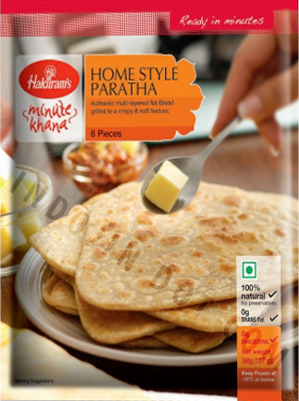 Haldiram's : Home Style Paratha Frozen [ 6 Piece ] 360 gm Delivery only with frozen parcel