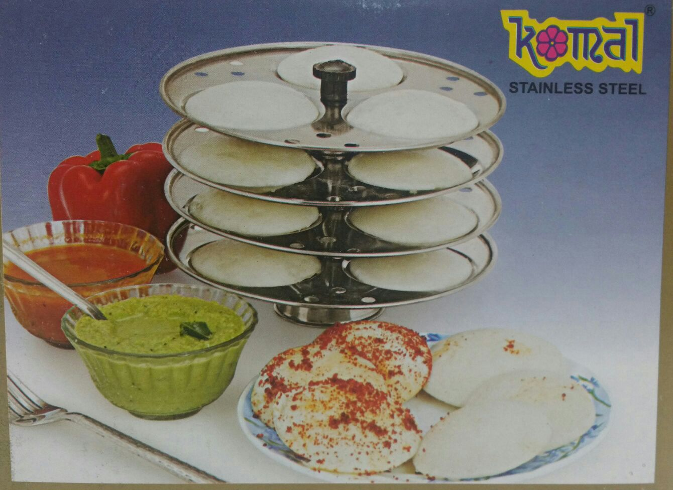 SS Idli Stand 4 Plate (12 Idli) Normal Size Stand Only