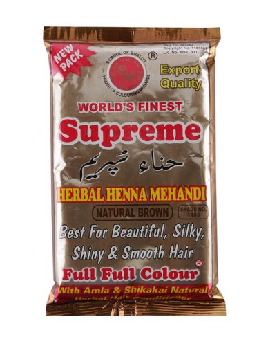 Supreme Herbal Henna Natural Brown Mehandi Powder ( For Hair) [ 150 gm ]