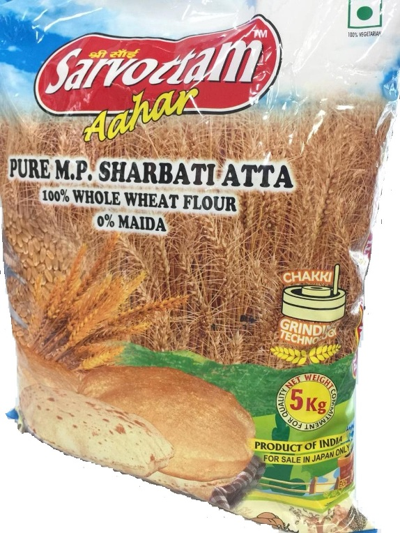 Sarvottam Aahar : Pure MP Sharbati Whole Wheat Atta [ 5 kg ]