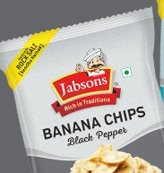 Jabsons : Banana Chips ( Black Pepper ) [ 150 gm ]