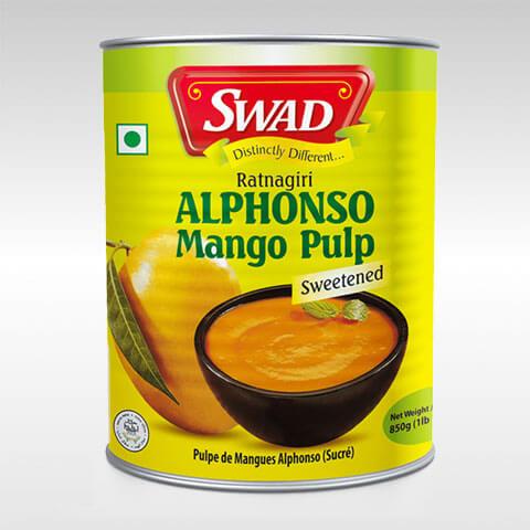 Swad Mango Pulp Alphanso [ 850 gm ]