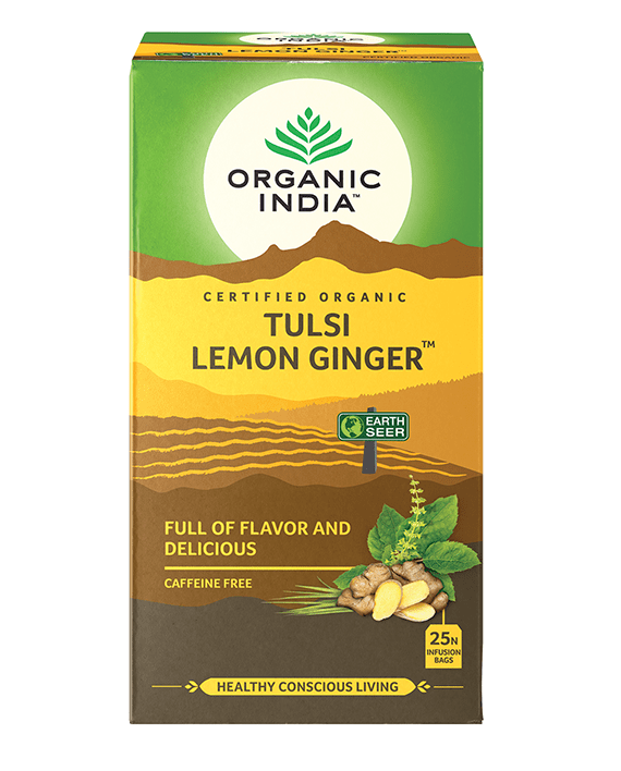 Organic India Tulsi Lemon Ginger Tea bag