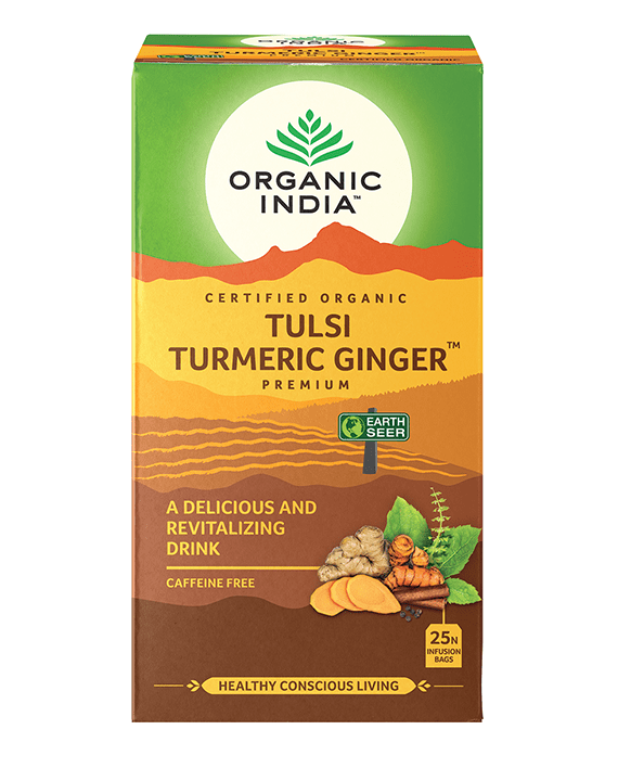 Organic India Tulsi Turmeric Ginger Tea Bag