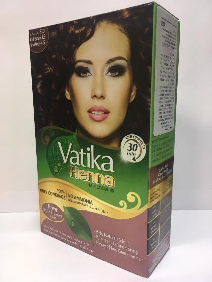 Vatika Henna Hair Color Nat Brown 10gX6