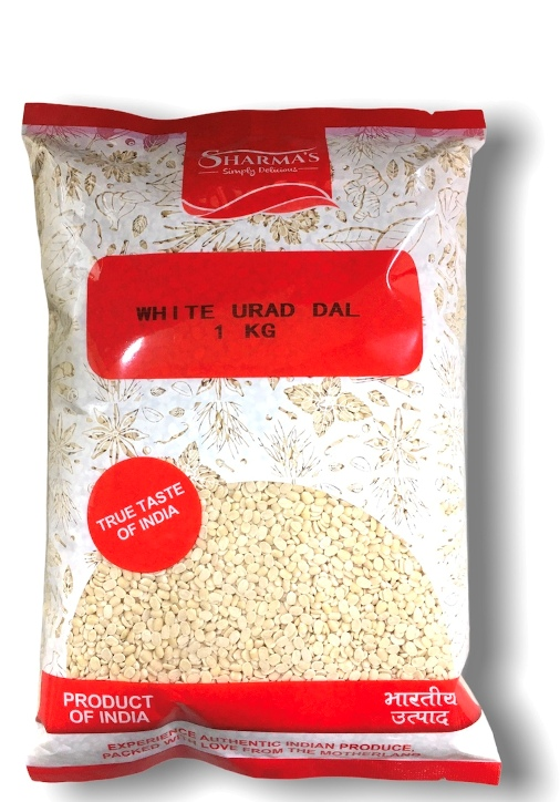 SHARMA'S White Urad Dal Split( Washed )(INDIAN) [ 1 kg ]