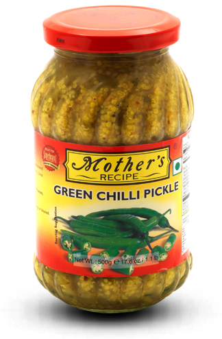 Mothers : Green Chilli Pickle [ 300 gm ]