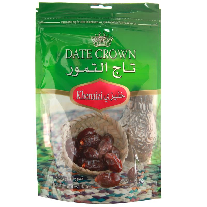 Dates Crown Khenaizi (Pouch Pack) 500g