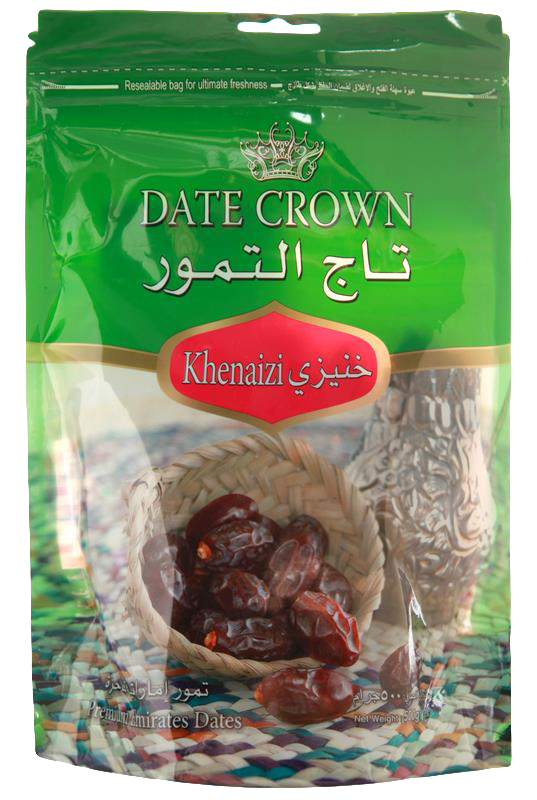 Dates Crown Khenaizi (Pouch Pack) 250g