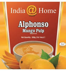 India@Home Mango Pulp Alphanso [ 850 gm ]