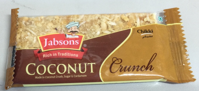 Jabsons : Chikki Coconut Crunch Bar [ 30 gm ] FREE GIFT
