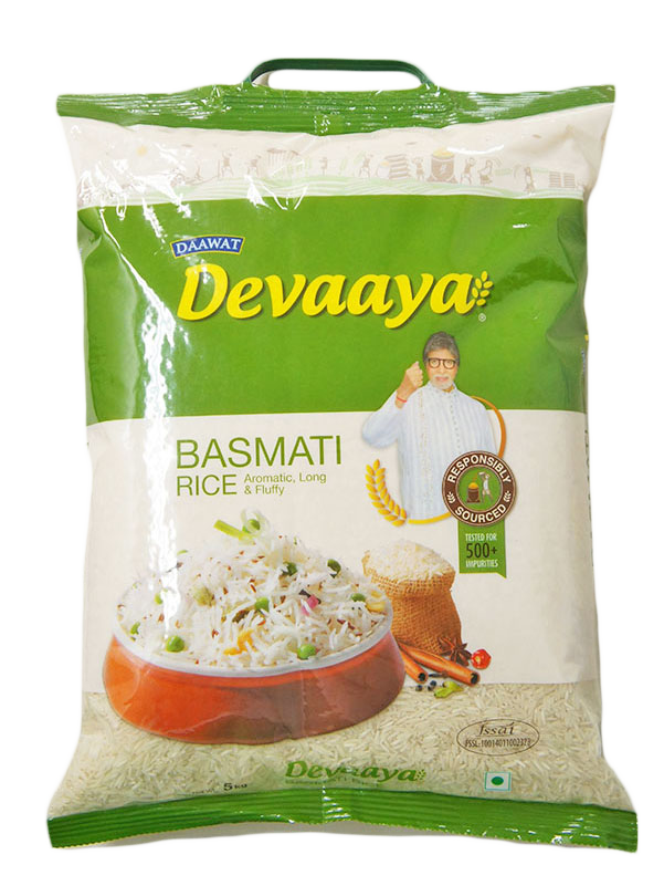 Devaaya Indian Basmati Rice 5kg