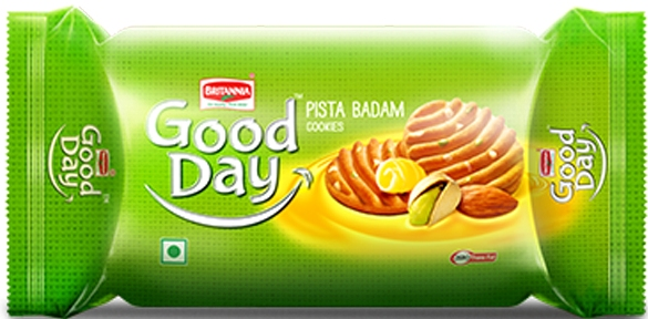 Britannia : Good Day Pistachio-Almond Cookies 90 gm - Click Image to Close