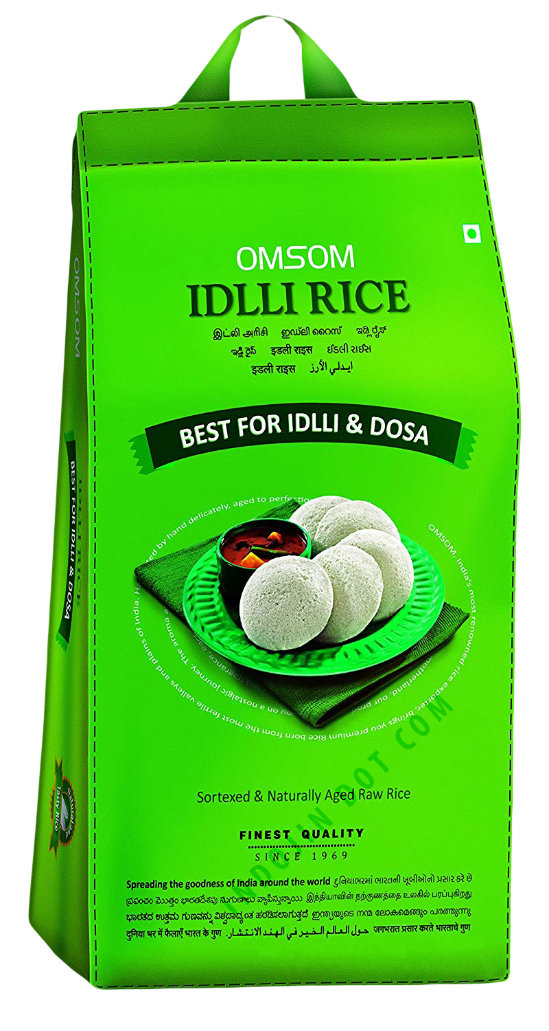 Omsum : Special Idli-Dosa Rice [ 1 kg ] Plain Packaging