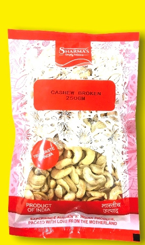 SHARMA'S Cashewnuts Broken ( Kaju ) [ 250 gm ]