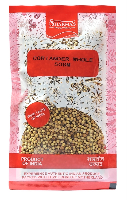 SHARMA'S Coriander Whole ( Dhania Sabut ) 50 gm