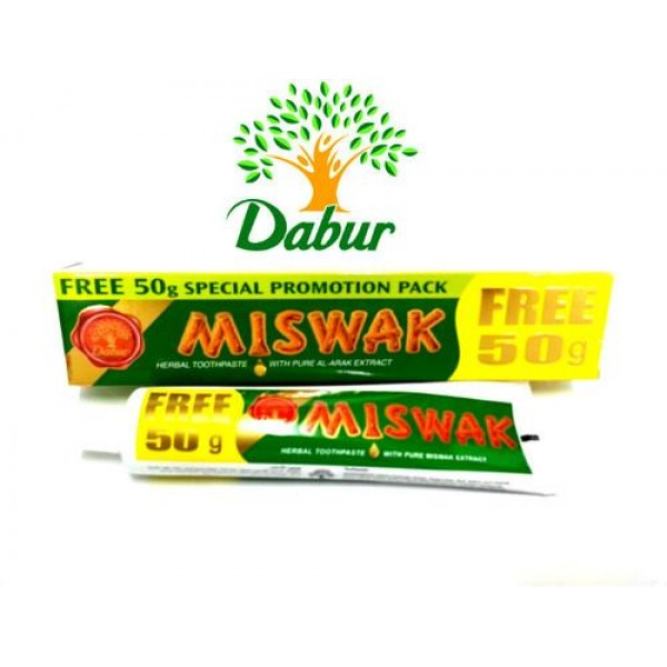 Dabur Herbal Tooth paste Miswak 120g+50gm