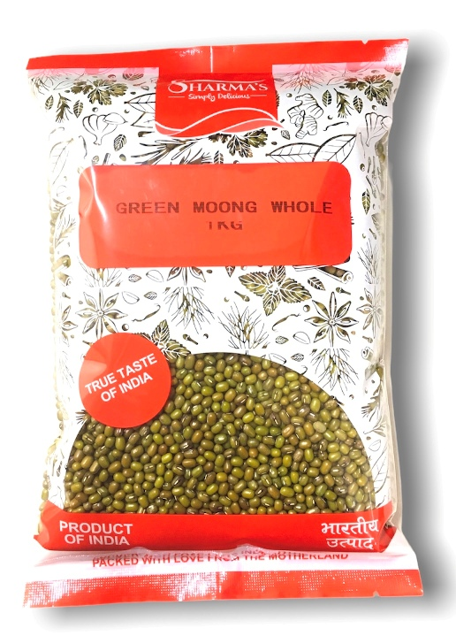 SHARMA'S Green Moong Whole-(INDIAN) [ 1 kg ]
