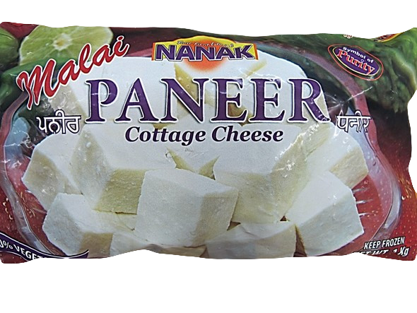 Nanak : Paneer ( Cube Cut ) Frozen [ 1 kg ] Delivery only with frozen parcel