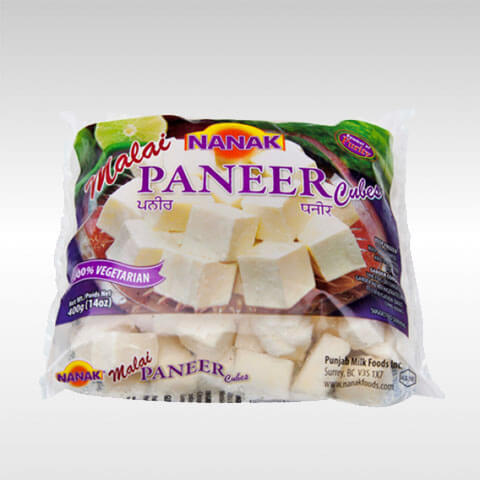 Nanak : Paneer ( Cube Cut ) Frozen [200g ] Delivery only with frozen parcel