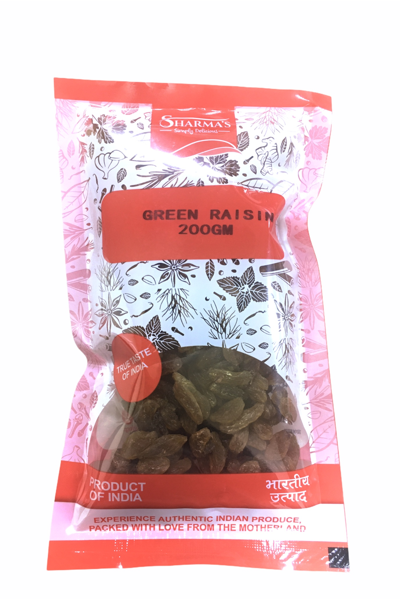 SHARMA'S Green Raisins ( Kishmish ) [ 200 gm ]