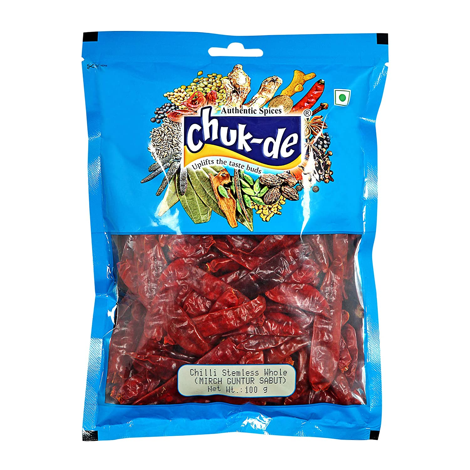 Chuk-de Red Chilli Whole 100g