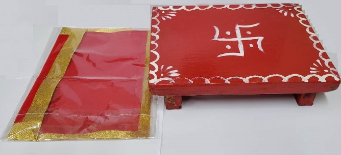 POOJA CHOKI WITH RED ASAN - Click Image to Close