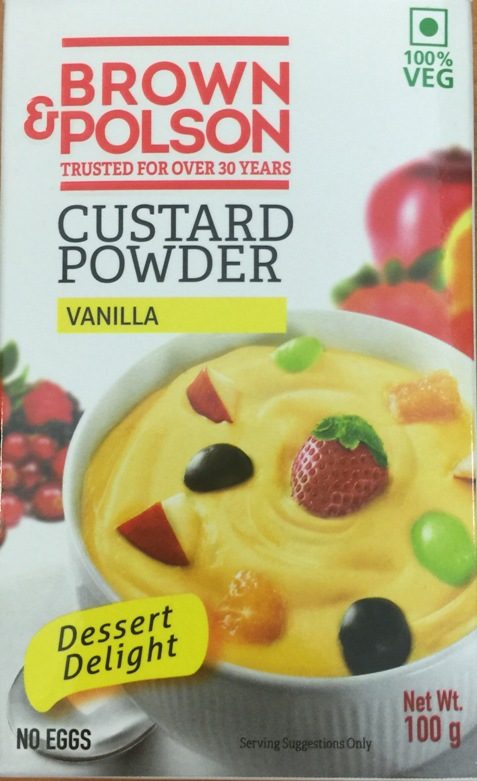 Brown & Polson : Custard Powder ( Vanilla ) [ 100 gm ]