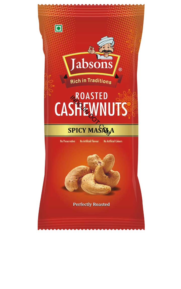 Jabsons : Roasted Cashewnuts Spicy Masala [ 100 gm ]