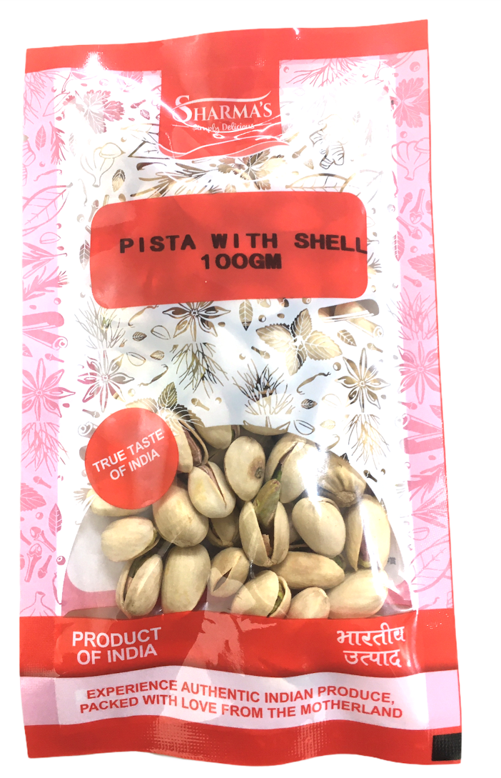 SHARMA'S Pista With Shell 100g